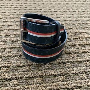 Men's Louis Vuitton cobalt monogram belt